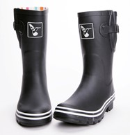 Ladies Evercreatures Black Short Wellies