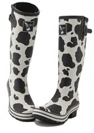 Ladies Evercreatures Cow Wellies Festival Wellingtons