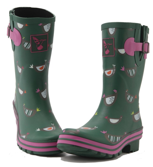 Evercreatures Chicken Wellies Ladies Mid Calf Wellingtons