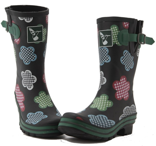 Evercreautres Wellies Ladies Gingham Mid Calf Wellingtons