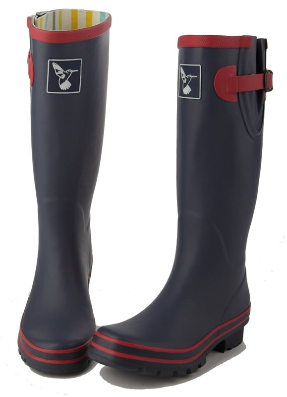 Evercreatures Raspberry Navy Ladies Wellies