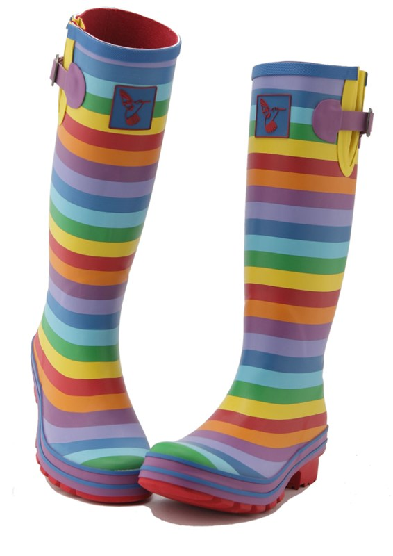 Evercreatures Rainbow Wellies Long Festival Ladies Wellingtons