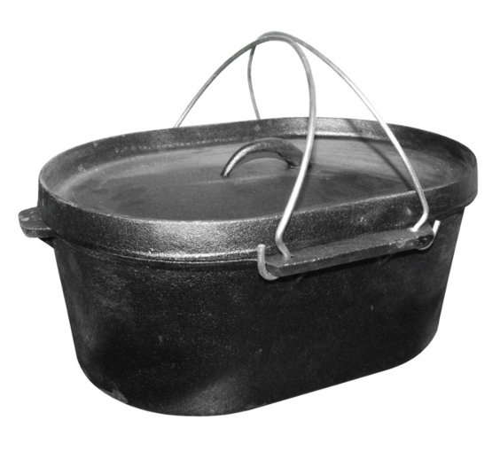 Large Cast Iron Stock Pot Dutch Oven 10.8 litres
