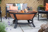 Large Copper Colour Firepit