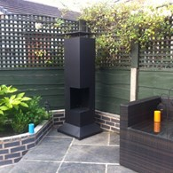Large Deluxe Contemporary Chimenea with BBQ Grill
