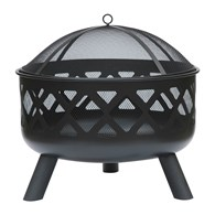 Large Firepit with Mesh Spark Guard