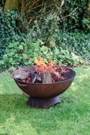 Large Iron Fire Pit in Rust or Black Colour