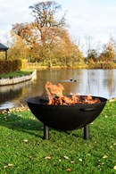 Large Iron Firepit in Black or Rust