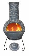Large Olas Mexican Clay Chimenea Patio Heater