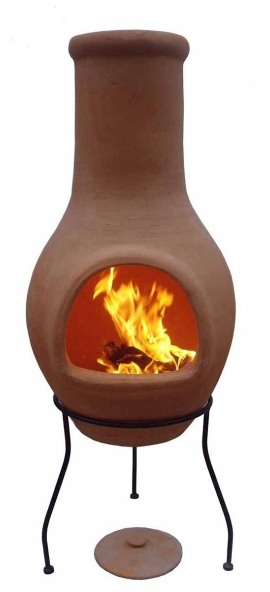 Clay Chimenea Large Terracotta Chiminea Patio Heater Fire ...