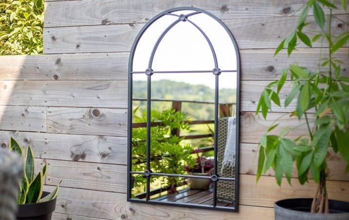 Large Steel Garden Mirror