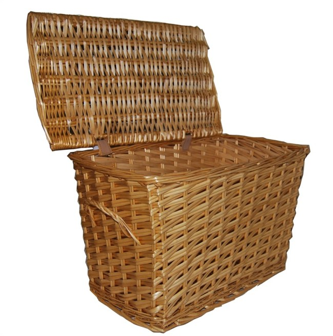 Large and XL Wicker Log Basket Laundry Basket or Toy Box