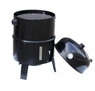Layered Food Smoker with Temperature Gauge