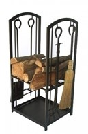 Log Rack with Companion Set