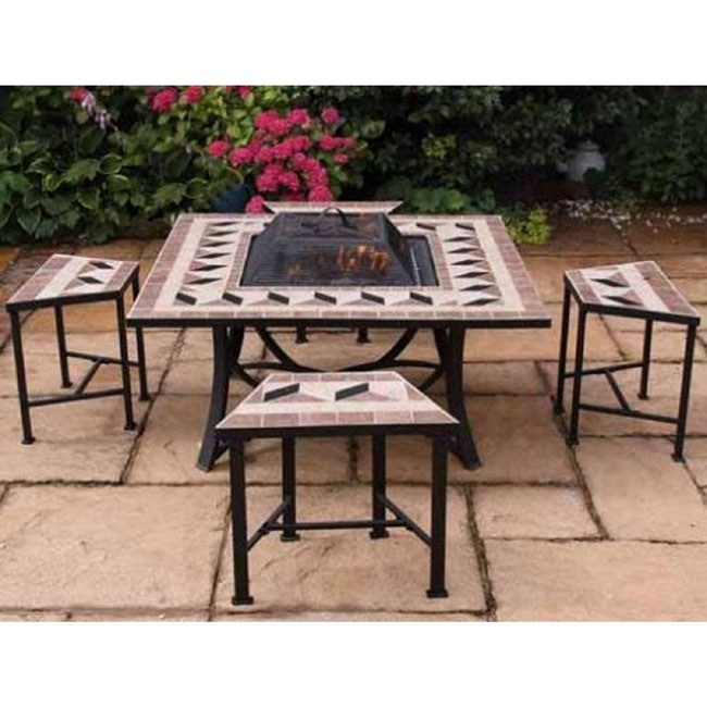 Garden Table And Chairs Fire Bowl Table Patio Set Patio