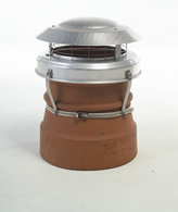 Multi Fuel Cowl Guard Anti Down Draft Terracotta or Stainless Steel