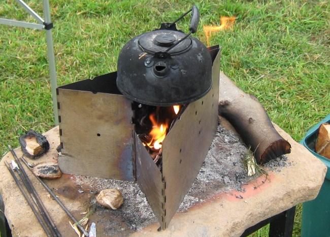 Maxi Fire Spout Folding Portable Wood Burning Camp Stove