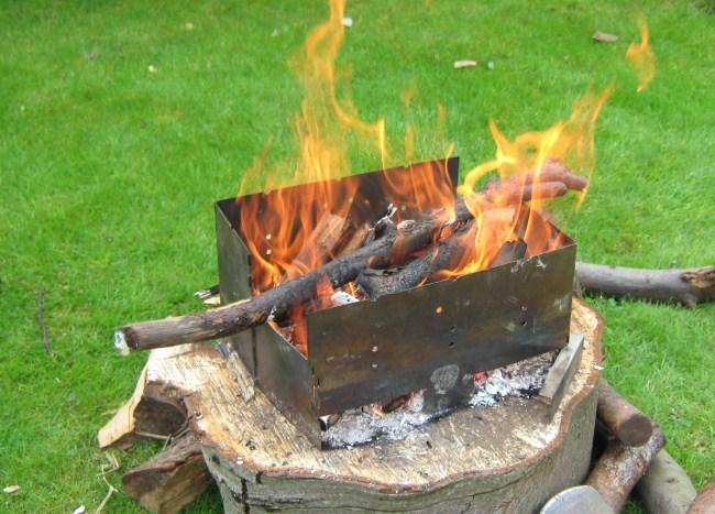 Maxi Fire Spout Folding Portable Wood Burning Camp Stove - Maxi Fire Spout Folding Portable Wood Burning Camp Stove