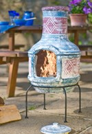 Medium Clay Chimenea Transforms Into Barbeque