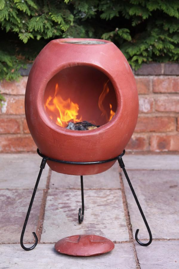 Medium Ellipse Mexican Clay Chimenea 3 Colours