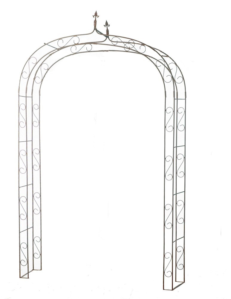 Metal Garden Arch Pergolas in Cream