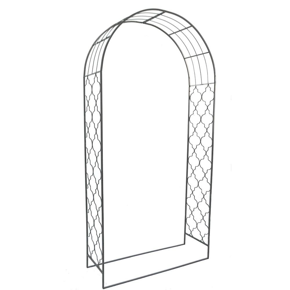 Metal Garden Arch Pergolas in Grey