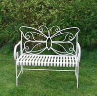 Metal Garden Butterfly Bench