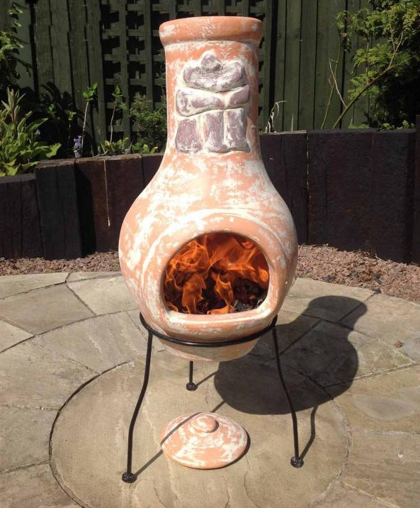 Mexican Style Clay Chimenea