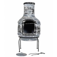 Modern Chimenea with BBQ Grill in One
