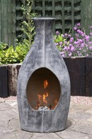 Modern Clay Chimenea Sculpture