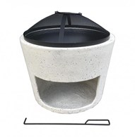 Modern Firepit with Spark Guard and Grill