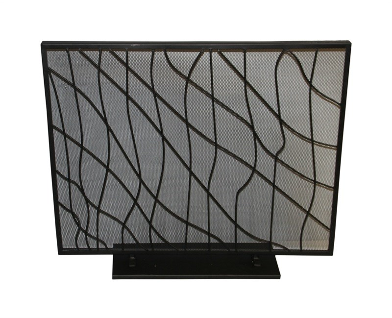 modern fireplace screen guard