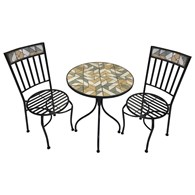 Modern Mosaic Bistro Set for Two