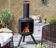 Modern Steel Chimenea Heater