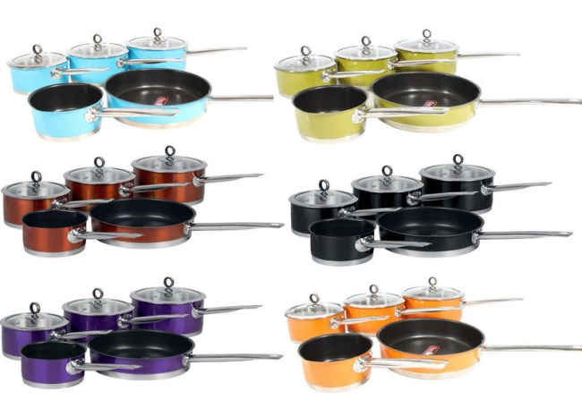 Morphy Richards Accents 5 Piece Saucepan Set 9 Colours