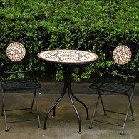Mosaic Bistro Set Garden Table and Chairs