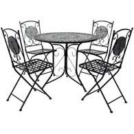 Mosaic Garden Dining Set for Four
