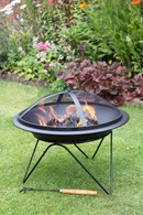 Multi Fuel Steel Fire Pit 51cm