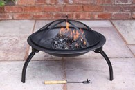 Multi Fuel Steel Fire Pit Folding Legs