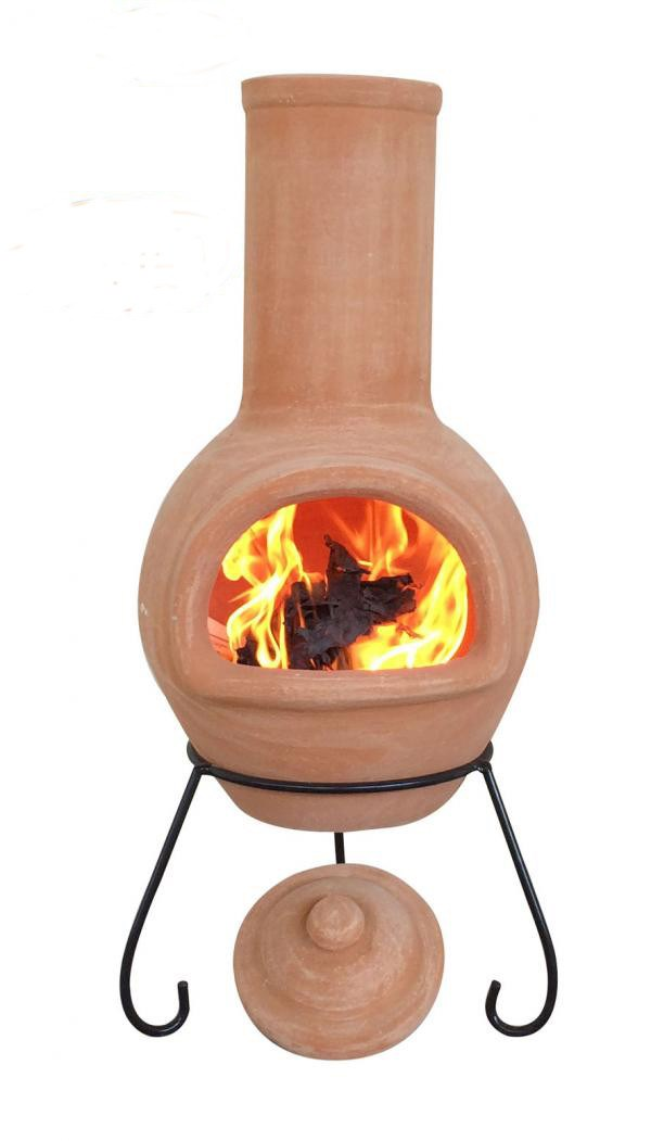 Mexican clay chimenea large terracotta chiminea patio for Terracotta chiminea