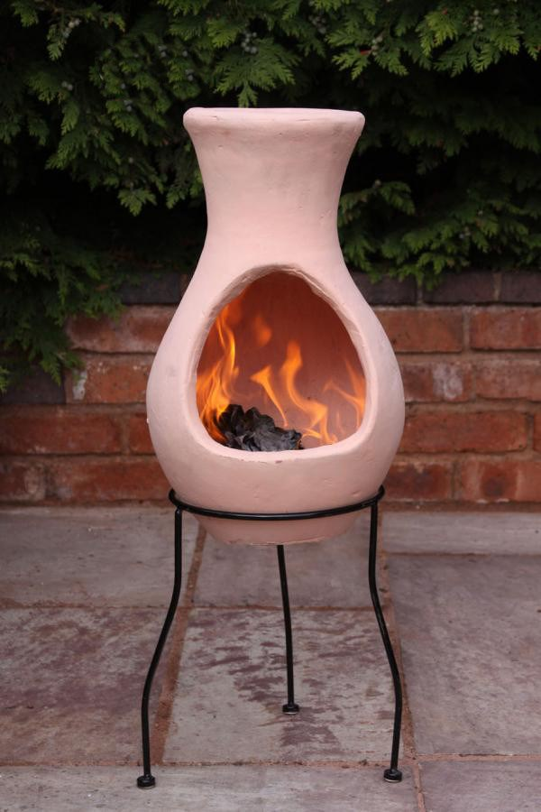 Terracotta Clay Chimenea Chiminea Patio Heater Fire Pit ...