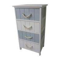 Nautical Style Storage Unit with Rope Handles