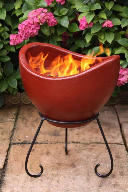 Nebulo Clay Fire Bowl Patio Heater Fire Pit Garden Heater