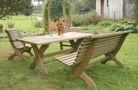 Nowy Targ Spruce Wood Garden Table Rectangular Savvysurf