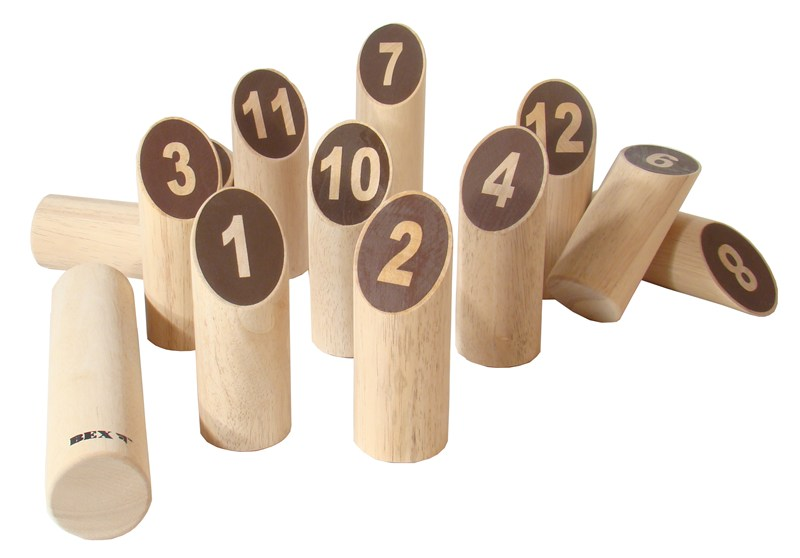 Number Kubb Original Wooden Family Game Viking Outdoor Chess