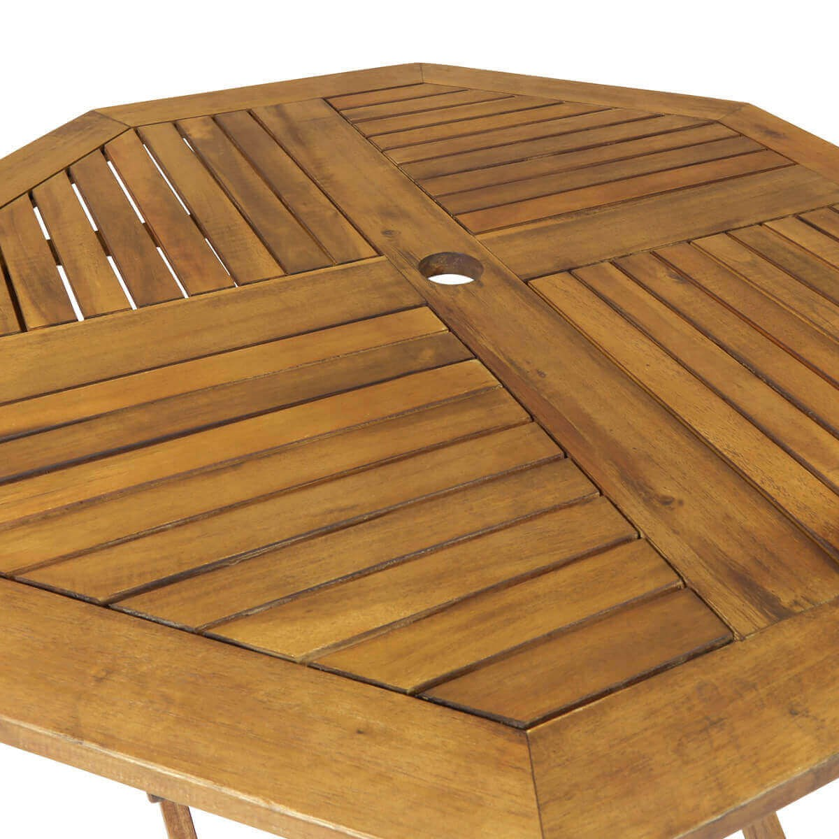 octagonal folding wooden garden table