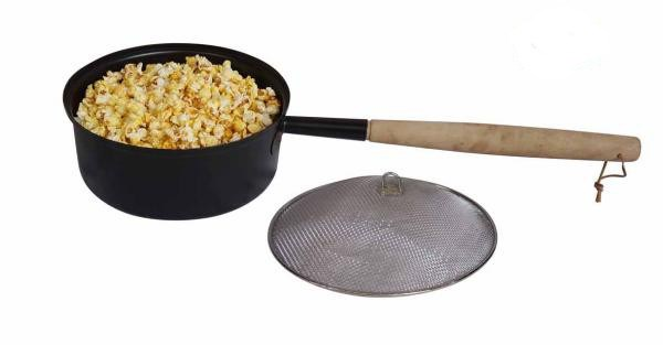 Open Fire Popcorn Pan with Lid