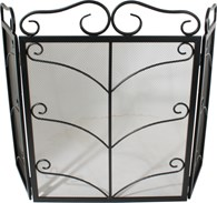 Ornate Black Fire Guard Two Sizes