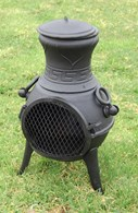 Ornate Multi Fuel Cast Iron Chimenea