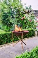 Outdoor Garden Heater Firepit in Rust or Black